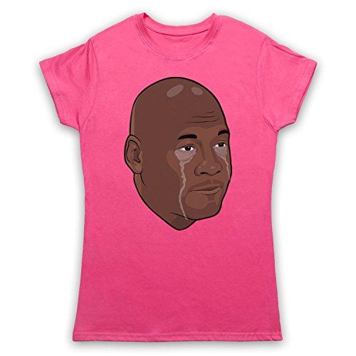 bfce4d50ed7 Inspiriert durch Crying Jordan Michael Jordan Face Meme Inoffiziell Damen  T-Shirt Rosa