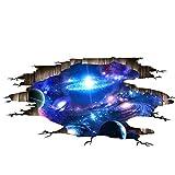 Beito Wand-Aufkleber-3D-Weltraum-Aufkleber-entfernbarer PVC-Aufkleber Planet Mond Erde Sterne Haus-Kunst-Dekor für Kinder Schlafzimmer Decke Wohnzimmer-Dekoration 1pc 24x 35Inches