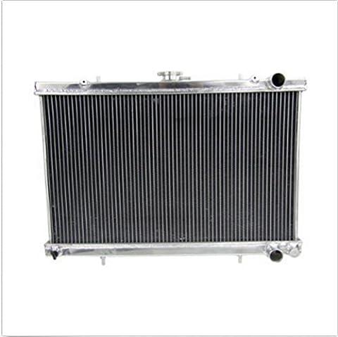 ALLOYWORKS Refroidissement du moteur en Aluminium Radiateur pour NISSAN SKYLINE R32 GTR GTS 1989-1993 (2 Rangées)