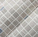 HNZZN Mediterrane Wallpaper Moderne kurze Mosaik Flock Druck blau Hintergrund Tapete, 8255, 53 CM X 10 M