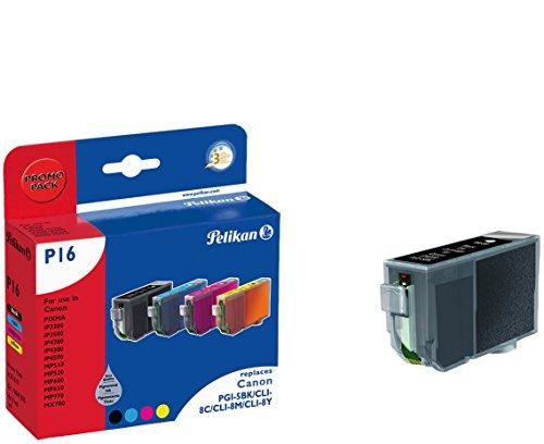 Pelikan Druckpatronen PromoPack PLUS 4+1 P16+C26 ersetzt Canon PGI-5BK/CLI-8C/CLI-8M/CLI-8Y, 2xBK PIG/C/M/Y