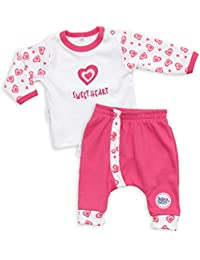 2b0a0c7e4b8c Baby Set Hose + Shirt Mädchen weiß pink   Motiv  Sweet Heart   Marke  Baby  Sweets   Babyset 2 Teile mit Herzmotiv für…