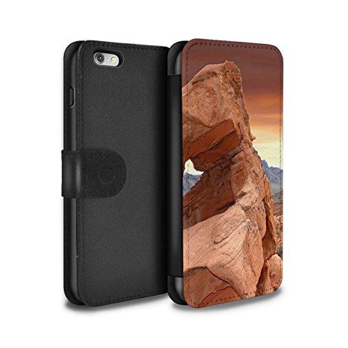Stuff4 Coque/Etui/Housse Cuir PU Case/Cover pour Apple iPhone 6+/Plus 5.5 / Vallée Design / État du Nevada Collection Vallée