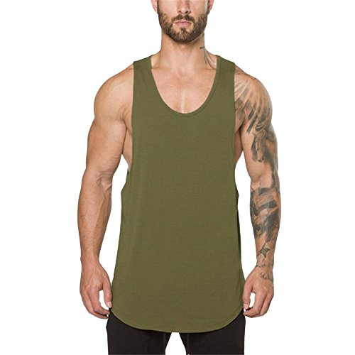 a5bf5957 Holywin T-Shirt Top Vest Uomo Palestre Bodybuilding Fitness Muscle  Sleeveless Canotta