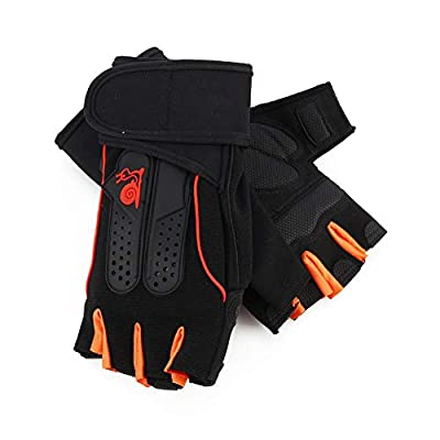 Zer one 1 Paar Unisex Breathable Gym Handschuhe Übung, Vollständiger Handballenschutz Training Workout Gewichtheben Handschuhe Handgelenk Protector Sporthandschuhe, XL
