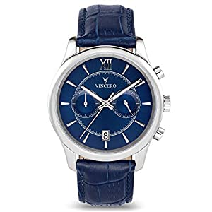Vincero Luxury Men's Bellwether Watch with Italian Leather Watch Band