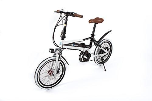 Cityboard Tourneo Bicicleta Eléctrica, Unisex Adulto, Blanco/Negro, 20