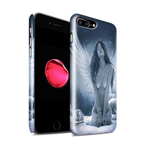 Offiziell Elena Dudina Hülle / Glanz Snap-On Case für Apple iPhone 8 Plus / La Nieve Muster / Fantasie Engel Kollektion La Nieve