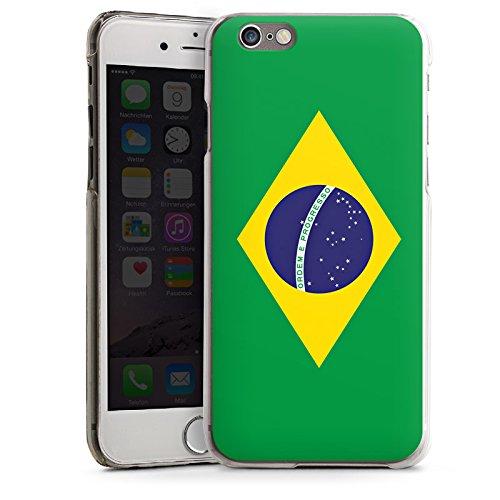 Apple iPhone 5s Housse Étui Protection Coque Brésil Drapeau Ballon de football CasDur transparent