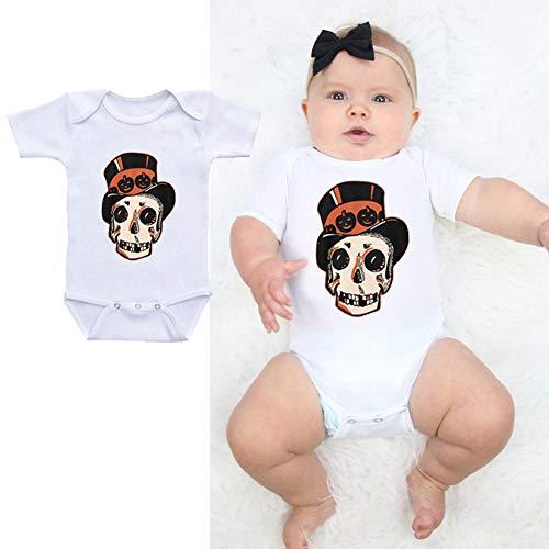 BONNIO Kleinkind Baby Strampler ärmellose Baumwolle Onesie Halloween Bodysuit Frühling Pyjamas Strampler