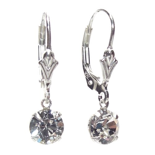 sterling-silver-lever-back-earrings-handmade-with-diamond-white-petite-crystal-from-swarovski