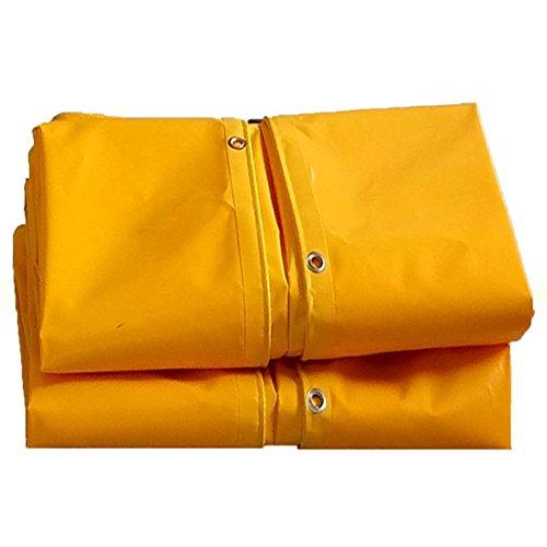CAOYU Bâche Double-Face rembourré étanche à l'eau Solaire Tente Tissu Camion Tissu à l'huile Coupe-Vent Anti-vieillissement, Jaune (Couleur : Le Jaune, Taille : 3X4M)