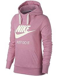 Nike W Nsw Crew Crop swsh, sudadera para mujer, mujer, W Nsw Crew Crop Swsh, Barely Rose/Bianco, Large