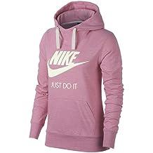 Nike NSW Gyvntg HBR Sudadera con Capucha, Mujer, Rosa (Elemental Pink/Sail), L