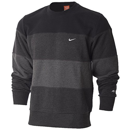 Nike Uomo Triband Fleece Felpa, Sweatshirt (M, Nero (032))