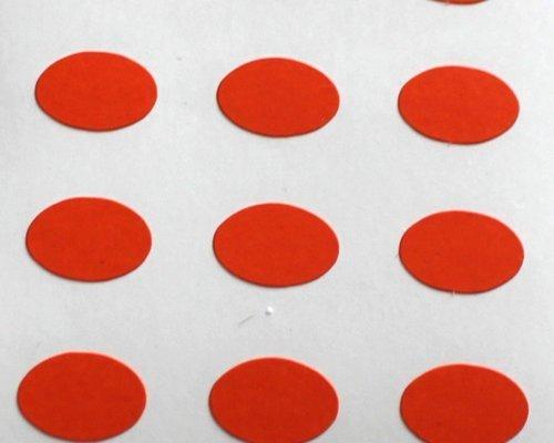 150 Etiquetas, 10x7mm Ovalados, Naranja, pegatinas autoadhesivas, Minilabel Formas