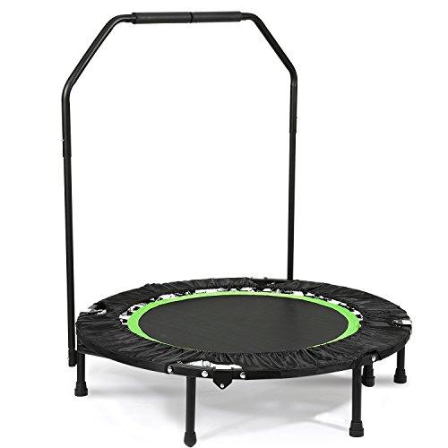 """Kecoo 40\"""" Mini Rebounder Trampolin mit dem verstellbaren Handlauf Fitness Training Trampolin (Neu-Grün/Neigung 18°)"""