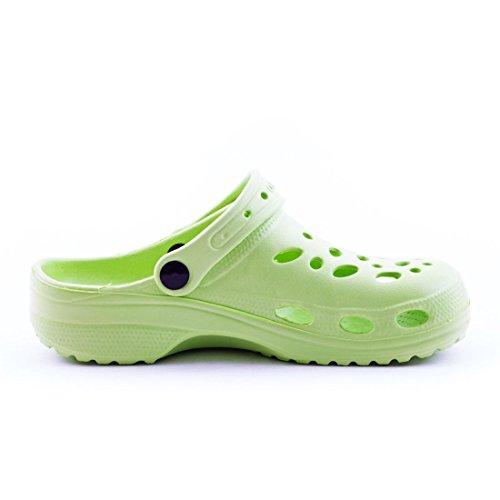 Trendige Unisex Damen Kinder Herren Garten Sommer Wasser Aqua Clogs Schuhe Grün