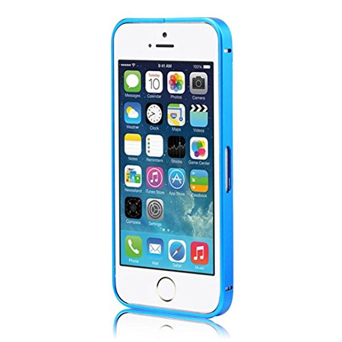Ouneed® Luxux Ultra Thin Aluminium Metallstoßfeld Fall für iPhone SE 5 5S Case Cover (Gold) blau