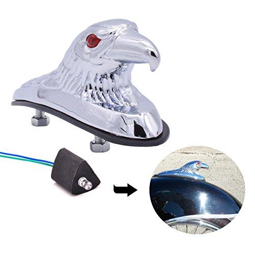 Adorno de águila cromado KATUR, ideal para el guardabarros delantero de motocicletas, cuatriciclo y capó de coche