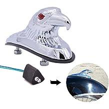 Adorno de águila cromado, ideal para el guardabarros delantero de motocicletas, quads y capó de coche KaTur