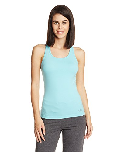 Lovable Women's Cotton Top (Racer Back Stretch SB_Sea Blue_XL)