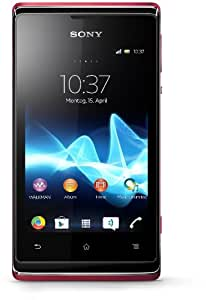 Sony Xperia E Smartphone (8,9 cm (3,5 Zoll) Touchscreen, Qualcomm, 1GHz, 512MB RAM, 4GB HDD, 3,2 Megapixel Kamera, Android 4.1) pink/rot