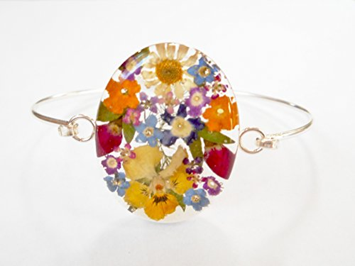 oval-dried-pressed-flowers-multi-color-925-silver-bangle