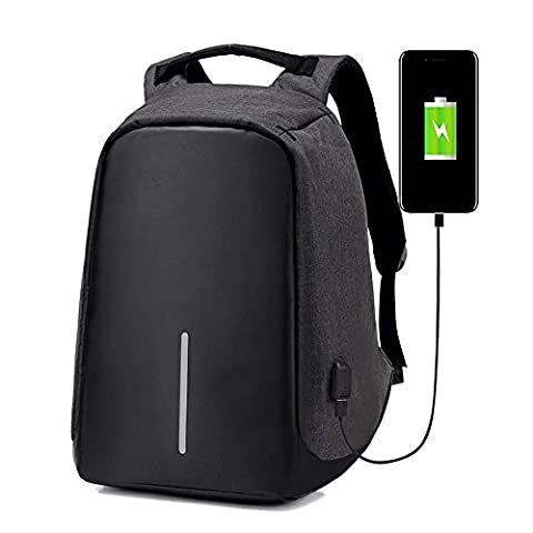 BSTcentelha Anti-theft backpack USB port backpack Laptop Backpack Casual Lightweight Waterproof for School / Travel