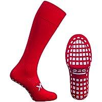 ATAK Full Length Grip Sports Calcetines, Unisex Adulto, Rojo, 6-8