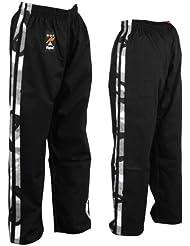 Pantalones para artes marciales de contacto 100 % algodón con 2 frankas en los lados - 5/180CM