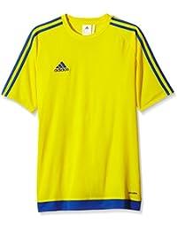 adidas Estro 15 JSY - Camiseta para hombre, color amarillo/azul marino, talla