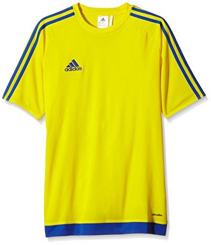 adidas Estro 15 JSY - Camiseta para hombre, color amarillo/azul marino, talla L