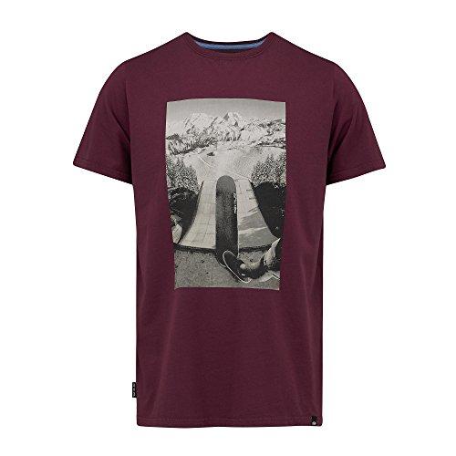 Herren T-Shirt Animal Scene T-Shirt mauve purple