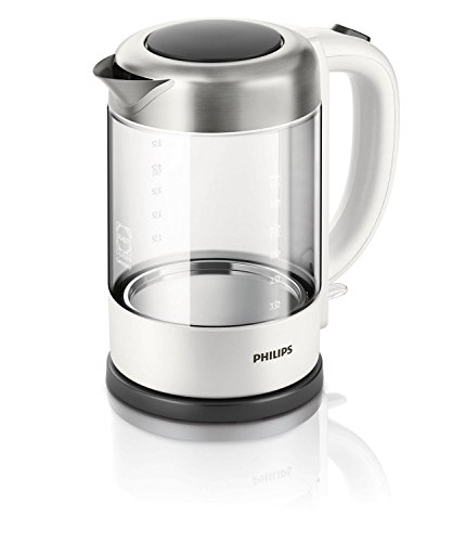 Philips HD9340/00 Viva Collection Glaswasserkocher hochwertiges Schott Duran Glas, 2200 W, 1.5 L