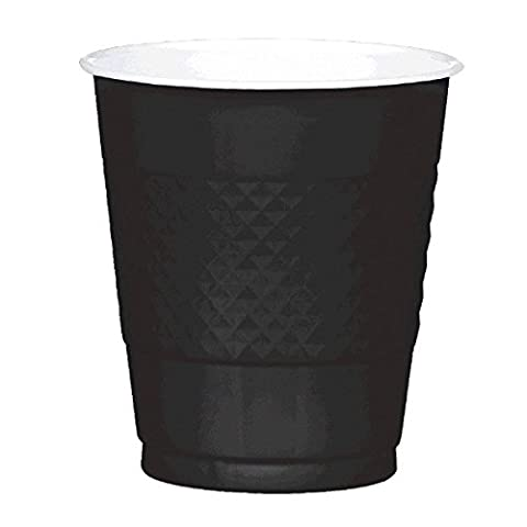 Amscan International 355ml Plastic Cup (Jet Black)