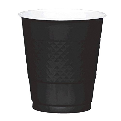 amscan 43036-10 Trinkbecher, Schwarz, 355 ml