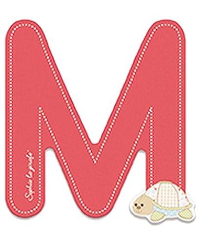 Janod Holzbuchstabe- Sofie die Giraffe Alphabet Namensbuchstaben M Kinderzimmer Deko, 7,9 x 7,2cm, Rot