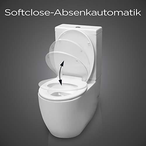 Dombach Celesto Toilettendeckel • der innovative Premium WC-Sitz in weiß mit Softclose/Absenkautomatik • Quick-Release • Antibakteriell • Duroplast und rostfreier