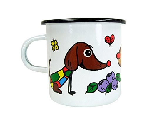 ABA 8x 7cm großen Hund Tasse (Mehrfarbig)