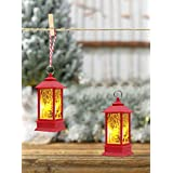 TIED RIBBONS Christmas Lights for Home - Pack of 2 Christmas Lanterns Battery Operated - Christmas Decoration Items