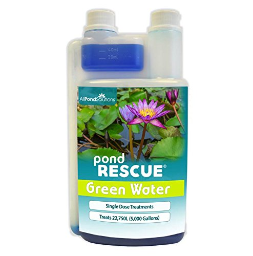 All Pond Solutions Rescue Green Water Pond Water Treatment, 1000 ml 1
