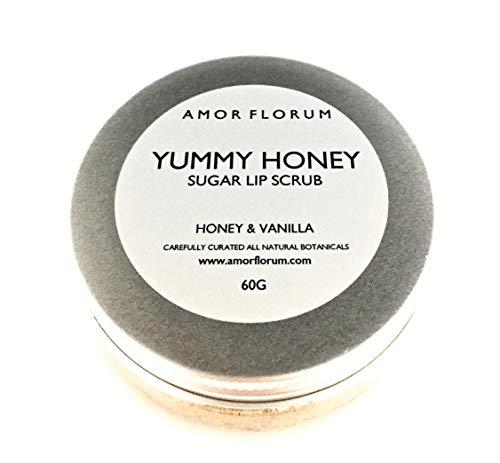 Leben Vanille Vitamine (ZUCKER LIPPENPEELING mit HONIG & VANILLA und JOJOBAÖL & VITAMIN E - 50g - von AMOR FLORUM. Alles natürliche Zuckerpeeling mit Honig und Vanille. Vitamin E und Jojobaöl nähren)