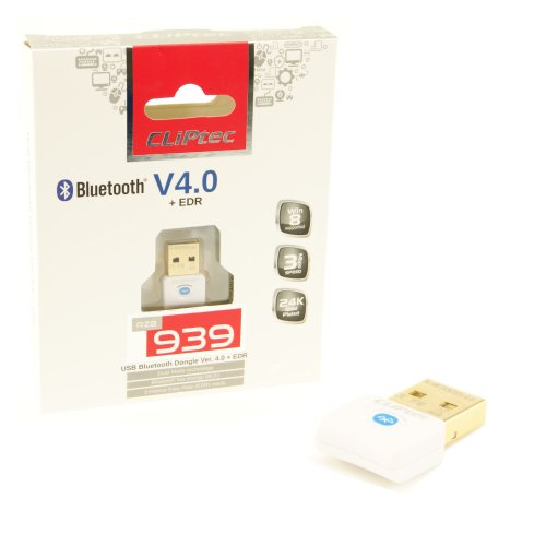 CLiPtec Bluetooth-Dongle V4.0 +EDR RSV939 Nano Dongle (AVRCP/A2DP Support) -