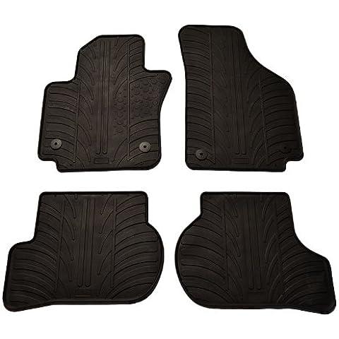 Rubber Car Mats Set Tappeto di gomma Seat Altea XL più clip di montaggio T Profilo, 4pezzi - Gomma Car Mats
