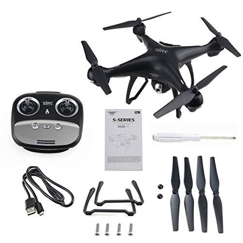 Funnyrunstore HD 1080P 4 Assi S70W Completa Doppio GPS-2.4GHz WiFi / FPV Drone Quadrirotore Aircraft,Nero