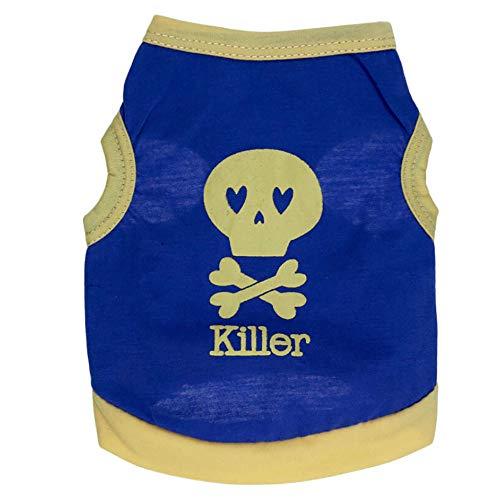 Pullover Sommer Hundebekleidung Baumwolle T-Shirt Welpen Kostüm für kleine Hunde ()