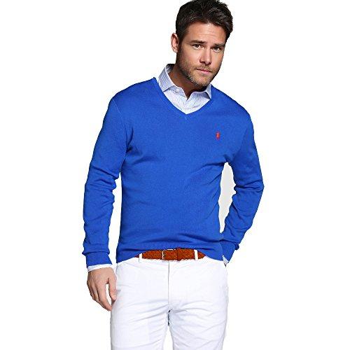 5c2156797e25fc Ralph Lauren Jersey Pima para Hombre con el Cuello en V (XL, Periwinkle)