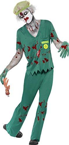 ie-Rettungssanitäter Kostüm, Oberteil, Hose, Maske, Haarnetz und Handschuhe, Größe: M, 24372 (Albtraum Halloween Kostüme)
