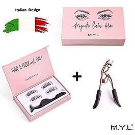 M.Y.L. Ciglia Finte Magnetiche Eyeliner Magnetico Naturali Con Applicatore Riutilizzabili Effetto Deluxe Trucchi Per…